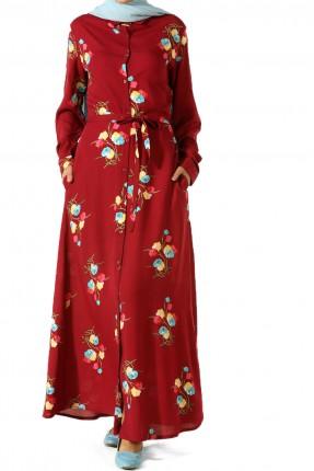 فستان سبور طويل مورد