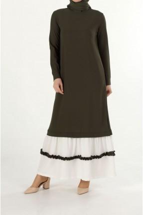 فستان سبور طويل كشكش