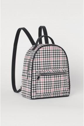 حقيبة ظهر نسائية كاروهات ملونة