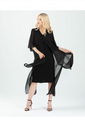 فستان رسمي قصير بياقة V