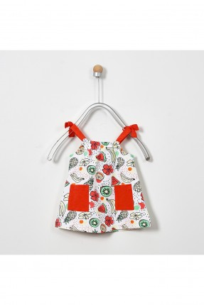 فستان بيبي بناتي مزين بالفواكه