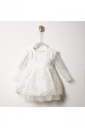 فستان بيبي بناتي مع نقشة زخرفة