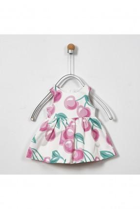فستان بيبي بناتي مزين بحبات الكرز