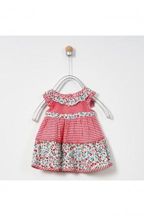 فستان بيبي بناتي مع كيلوت مزين بالورود