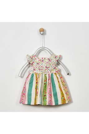 فستان بيبي بناتي مزين بالورود