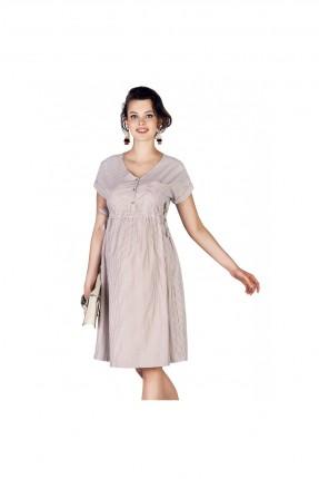 فستان سبور حمل مخطط بجيب امامي