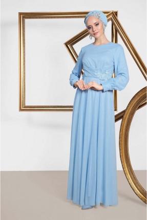 فستان رسمي مزخرف من الخصر