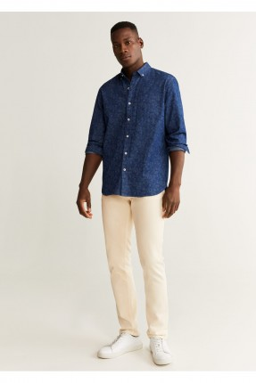 قميص رجالي مزين بالورد