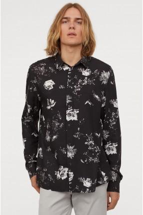 قميص رجالي مزين بالورود