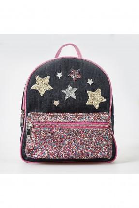 حقيبة ظهر اطفال بناتي مزينة بنجوم