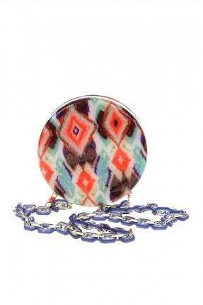 حقيبة يد نسائية دائرية ملونة