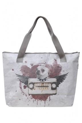 حقيبة يد نسائية بطبعة راديو وكلب