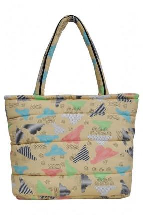 حقيبة يد نسائية بطبعة ملونة