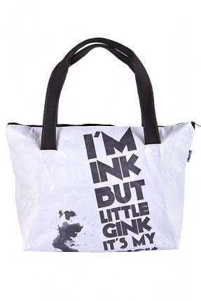حقيبة يد نسائية بطبعة كتابة