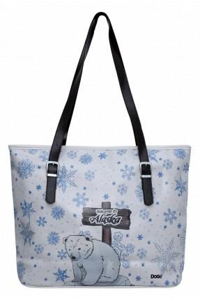 حقيبة يد نسائية بطبعة دب قطبي