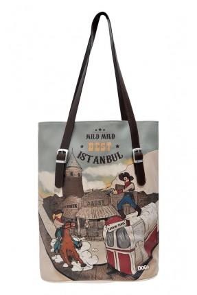 حقيبة يد نسائية بطبعة اسطنبول