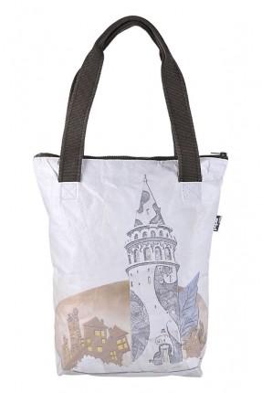 حقيبة يد نسائية بطبعة برج غلاطة