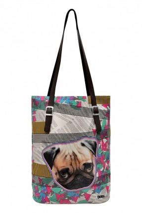 حقيبة يد نسائية بطبعة كلب