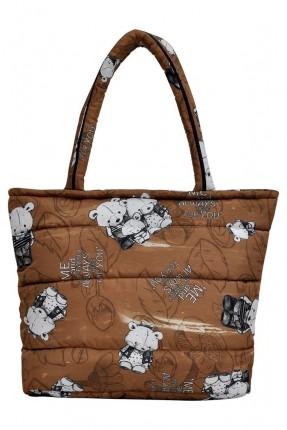 حقيبة يد نسائية بطبعة دب