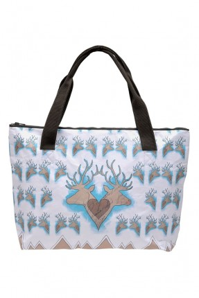 حقيبة يد نسائية بطبعة غزال