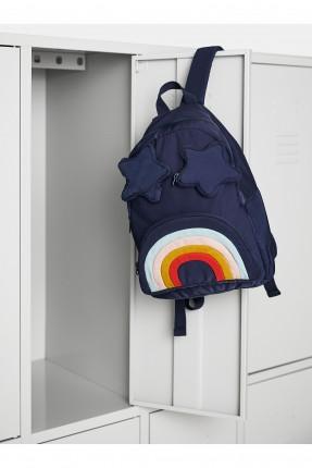 حقيبة ظهر مدرسية اطفال بناتي بجيوب على شكل نجمة