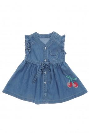 فستان بيبي بناتي حديث الولادة بطبعة كرز
