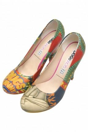 حذاء نسائي بطبعة افلام كرتون