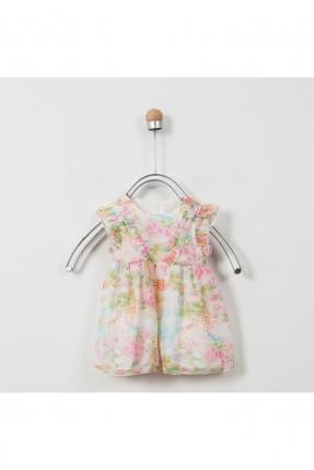 فستان بيبي بناتي حديث الولادة مزين بالورود