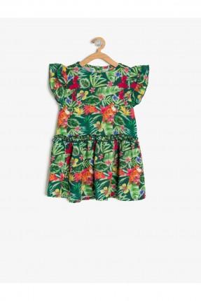 فستان بيبي بناتي بطبعة ورود ملونة