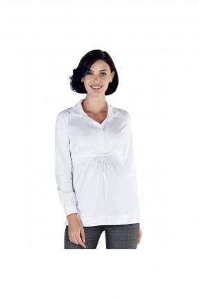 بلوز حمل بياقة قميص