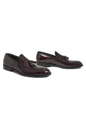 حذاء رجالي جلد ذو لمعه