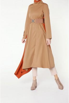 فستان سبور طويل ملون من الجانب