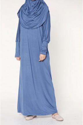 فستان سبور طويل باكمام واسعة