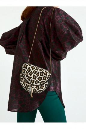 حقيبة يد نسائية بطبعة تايغر