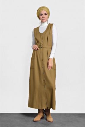 فستان سبور طويل بازرار امامية