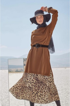 تنورة طويلة بطبعة تايغر