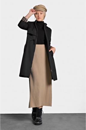تنورة طويلة سبور بخصر مطاط