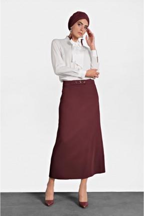 تنورة طويلة كلاسيكية بجيوب