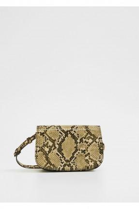 حقيبة يد نسائية بطبعة جلد الثعبان