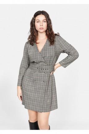 فستان سبور قصير كاروهات