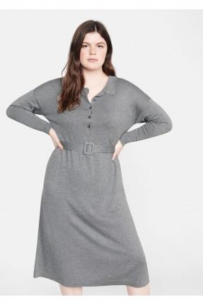 فستان سبور بياقة ازرار