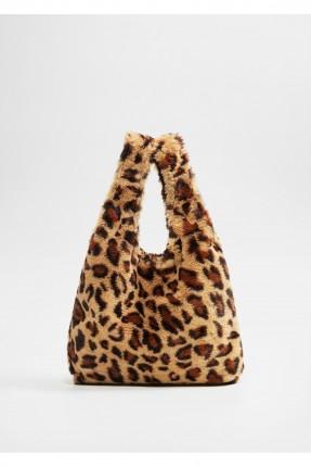 حقيبة يد نسائية فرو بطبعة تايغر