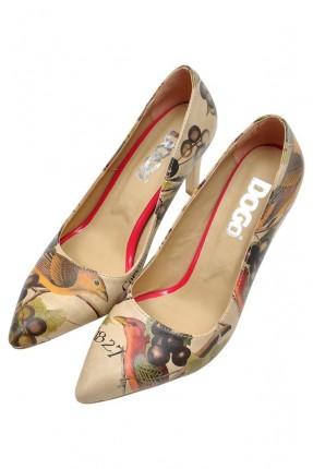 حذاء نسائي بطبعة طيور