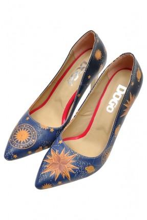 حذاء نسائي بطبعة المجموعة الشمسية