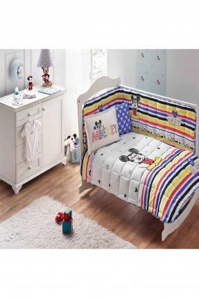 طقم لحاف سرير بيبي مخطط