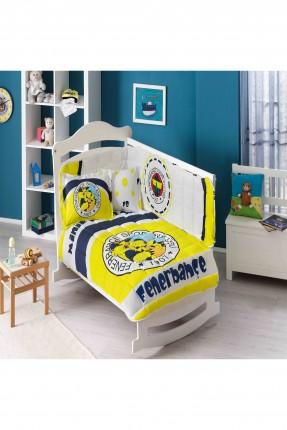 طقم لحاف سرير بيبي مزين بكتابات
