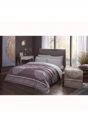بطانية سرير فردي مزخرفة ورد