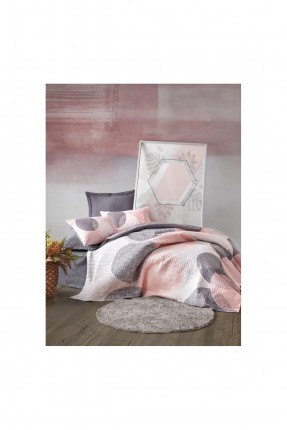 طقم غطاء سرير فردي مزين بدوائر