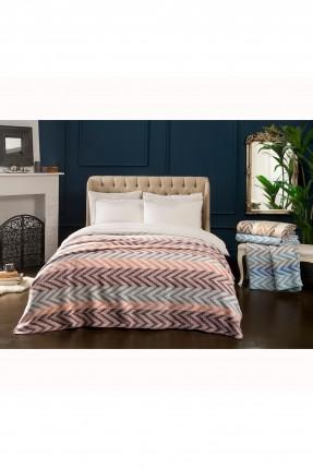 بطانية سرير مزدوج مخططة