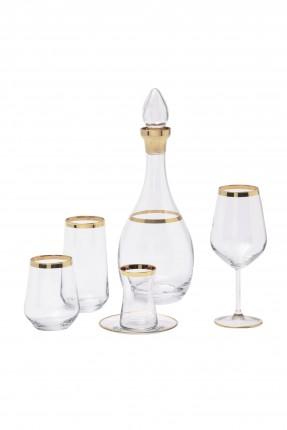 طقم ابريق مع كاسات زجاج للشرب 6 اشخاص
